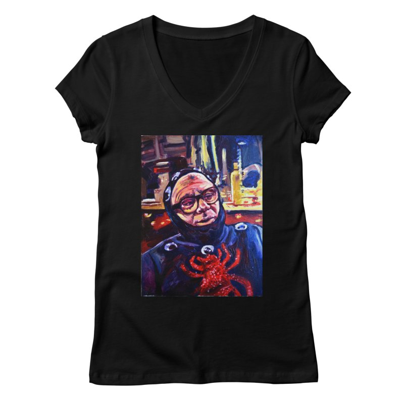 man-spider Women's V-Neck by paintings by Seamus Wray