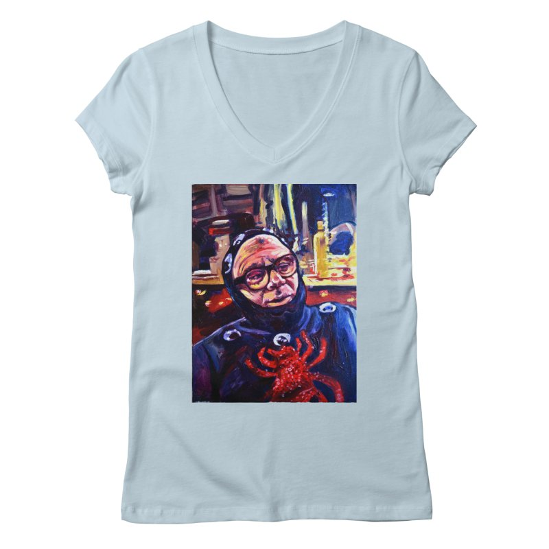man-spider Women's Regular V-Neck by paintings by Seamus Wray