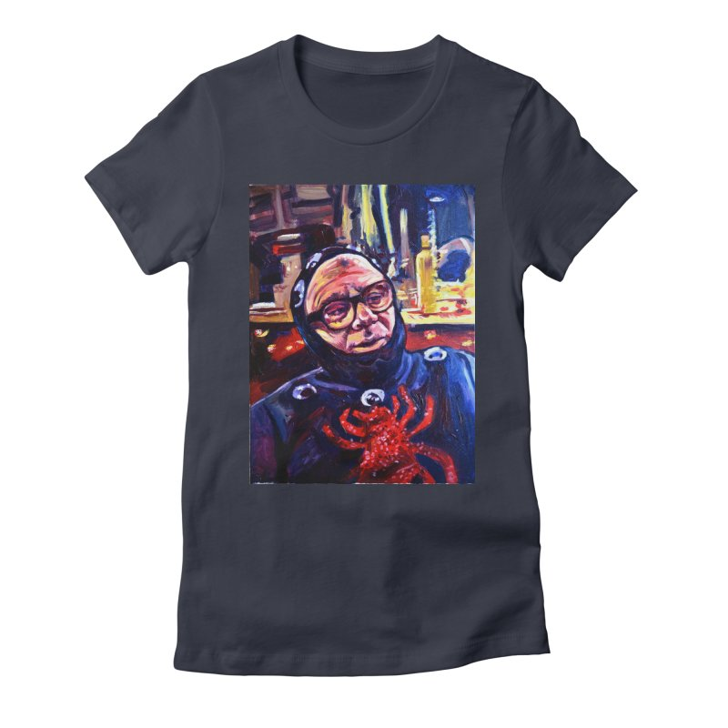 man-spider Women's Fitted T-Shirt by paintings by Seamus Wray