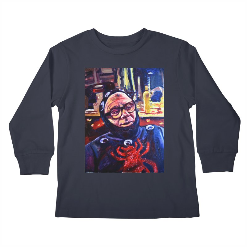 man-spider Kids Longsleeve T-Shirt by paintings by Seamus Wray