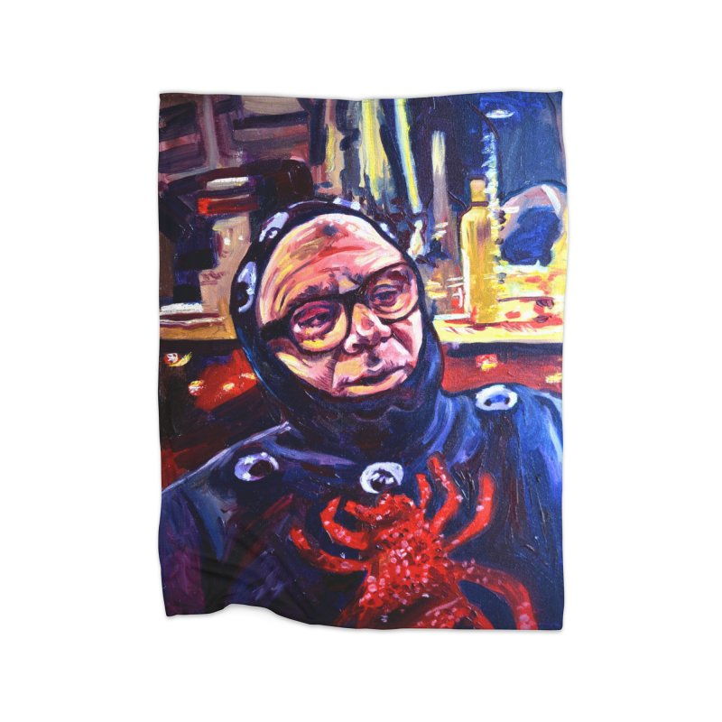 man-spider Home Fleece Blanket Blanket by paintings by Seamus Wray
