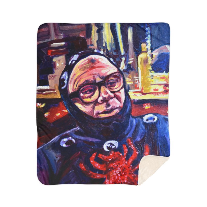 man-spider Home Sherpa Blanket Blanket by paintings by Seamus Wray