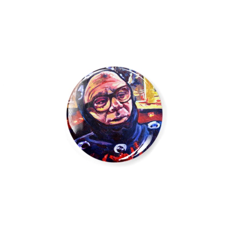 man-spider Accessories Button by paintings by Seamus Wray