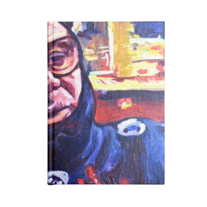 man-spider Accessories Lined Journal Notebook by paintings by Seamus Wray
