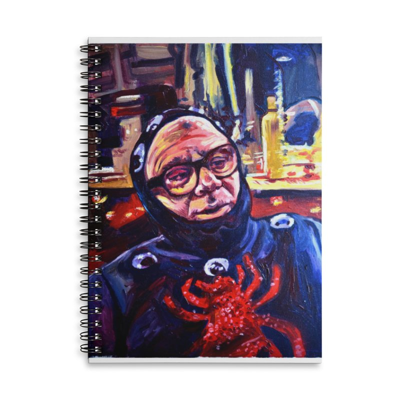 man-spider Accessories Lined Spiral Notebook by paintings by Seamus Wray
