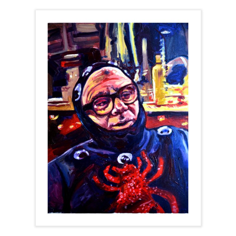 man-spider Home Fine Art Print by paintings by Seamus Wray