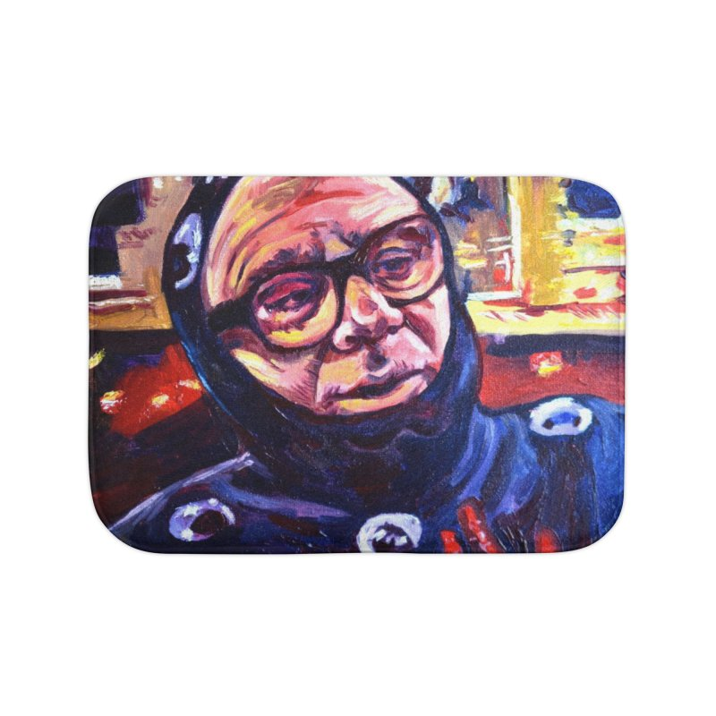 man-spider Home Bath Mat by paintings by Seamus Wray