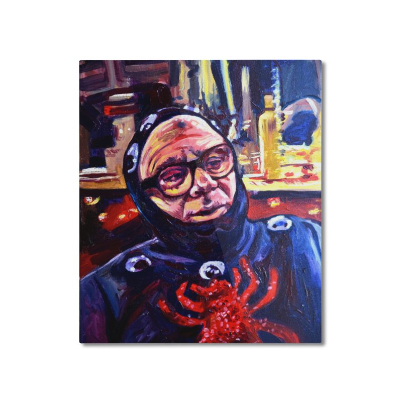 man-spider Home Mounted Aluminum Print by paintings by Seamus Wray
