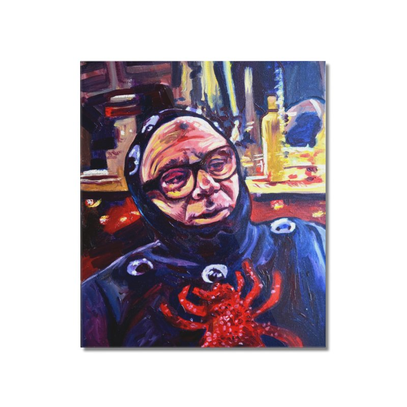 man-spider Home Mounted Acrylic Print by paintings by Seamus Wray
