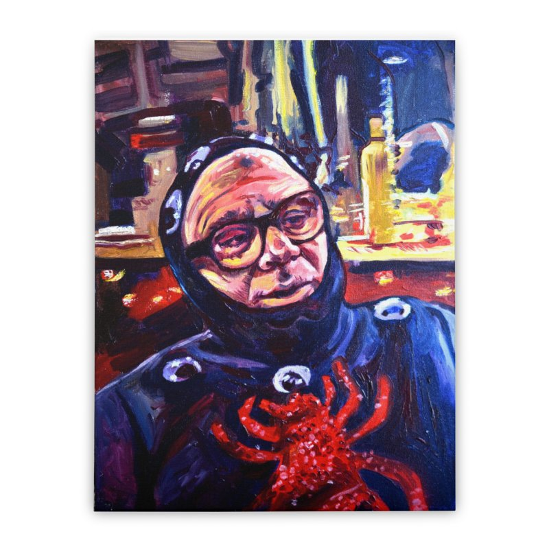 man-spider Home Stretched Canvas by paintings by Seamus Wray