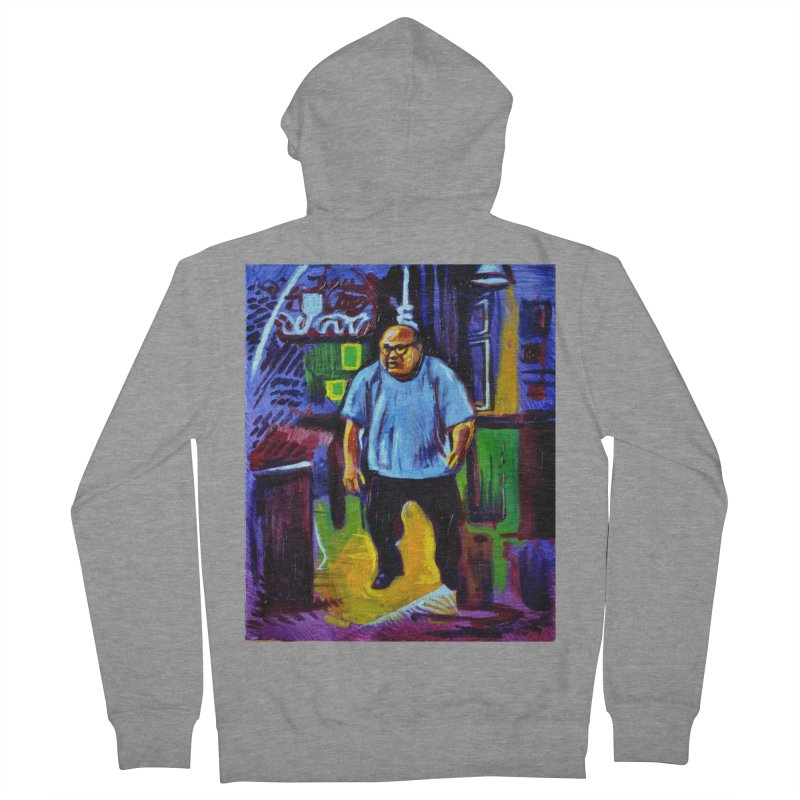 dangling Women's French Terry Zip-Up Hoody by paintings by Seamus Wray