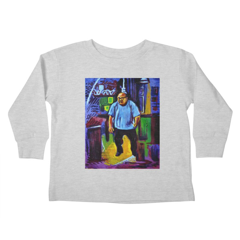dangling Kids Toddler Longsleeve T-Shirt by paintings by Seamus Wray