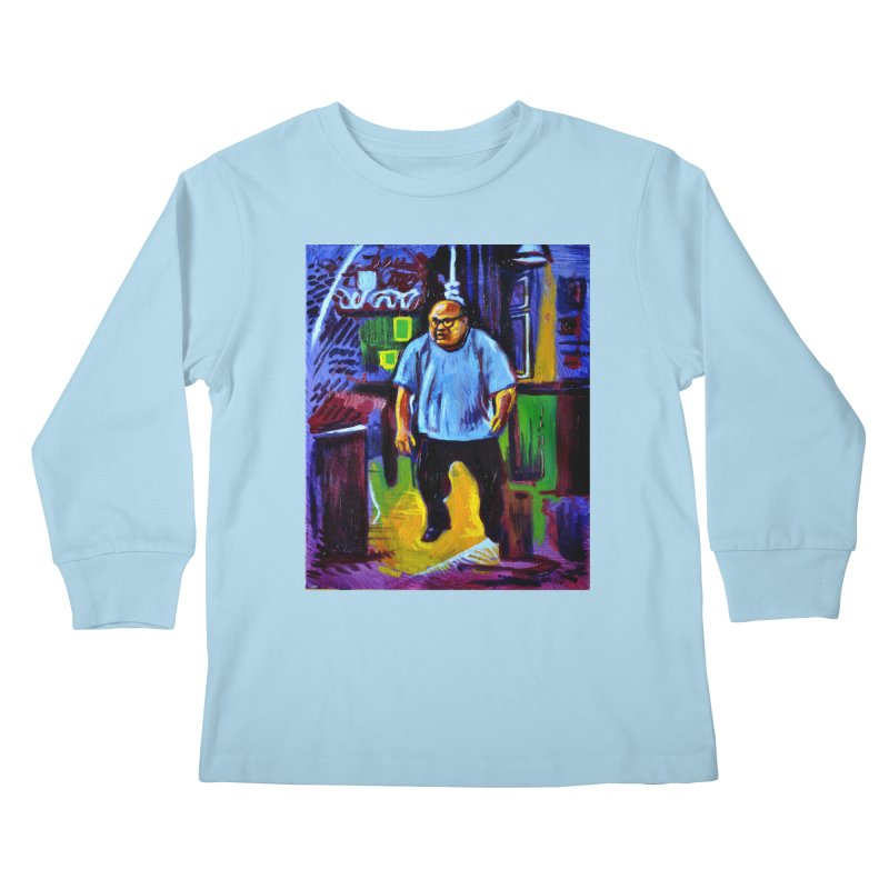 dangling Kids Longsleeve T-Shirt by paintings by Seamus Wray