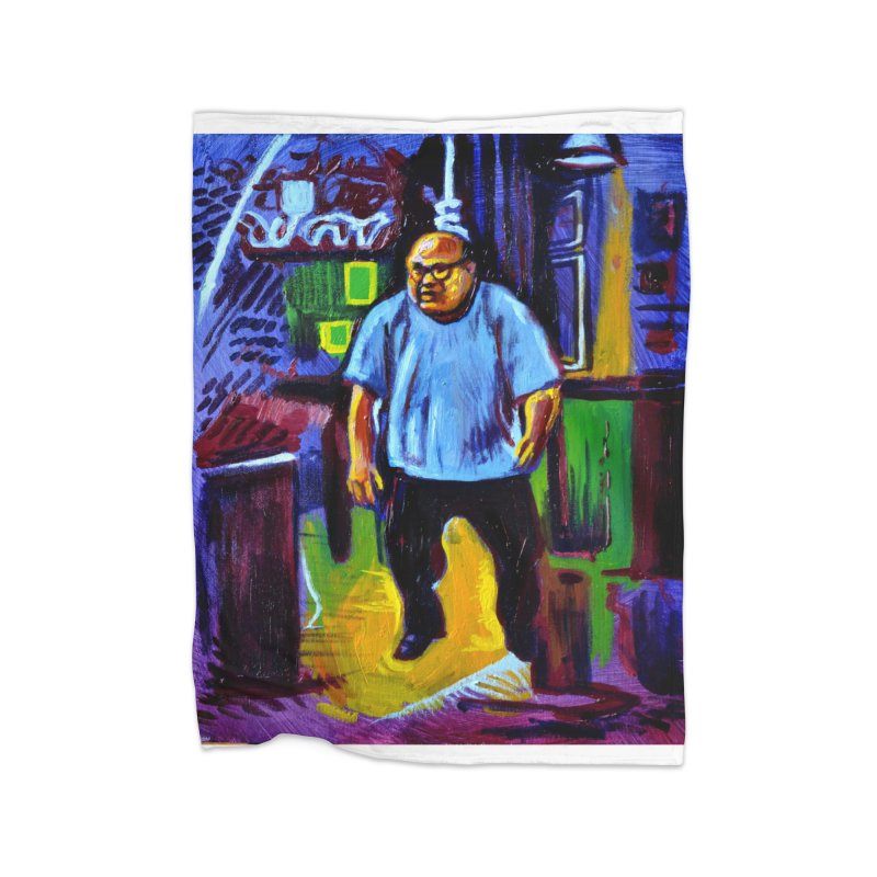 dangling Home Fleece Blanket Blanket by paintings by Seamus Wray