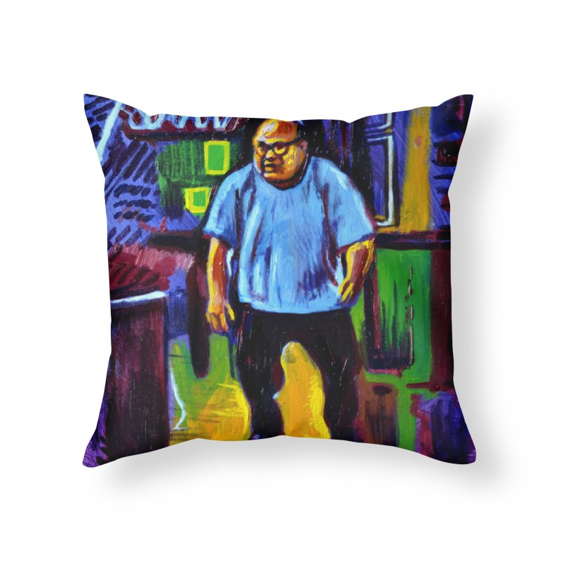 dangling Home Throw Pillow by paintings by Seamus Wray