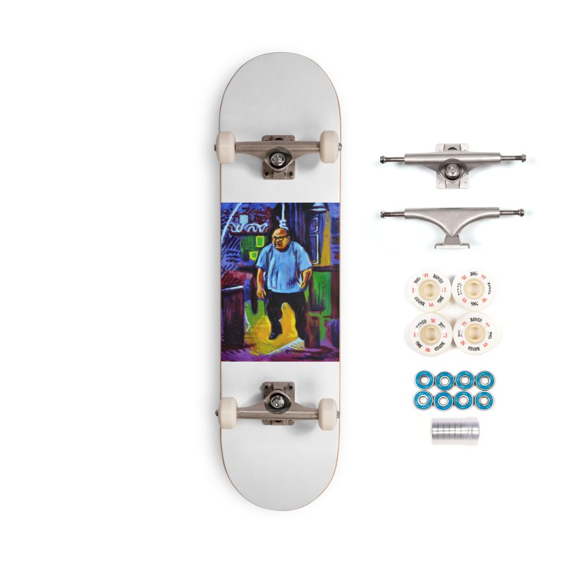 dangling Accessories Complete - Premium Skateboard by paintings by Seamus Wray