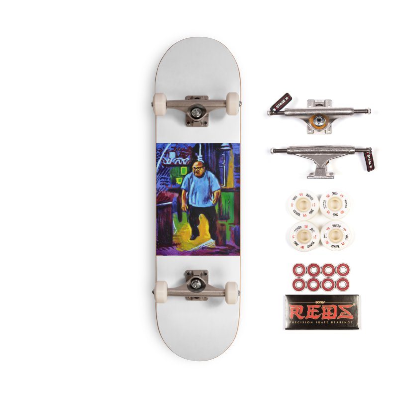 dangling Accessories Complete - Pro Skateboard by paintings by Seamus Wray