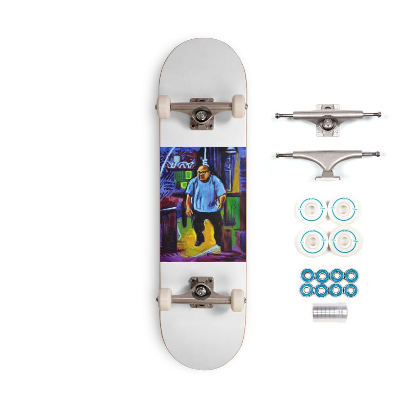 dangling Accessories Complete - Basic Skateboard by paintings by Seamus Wray