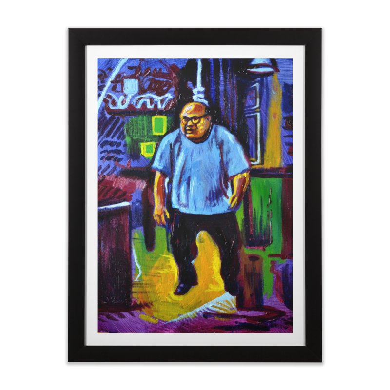 dangling Home Framed Fine Art Print by paintings by Seamus Wray
