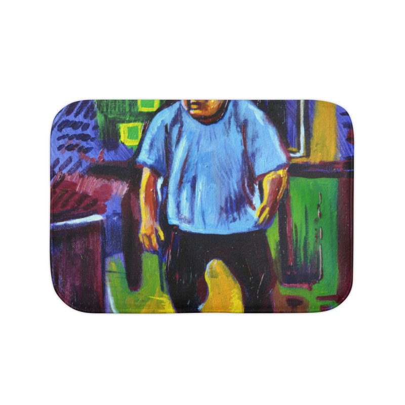 dangling Home Bath Mat by paintings by Seamus Wray