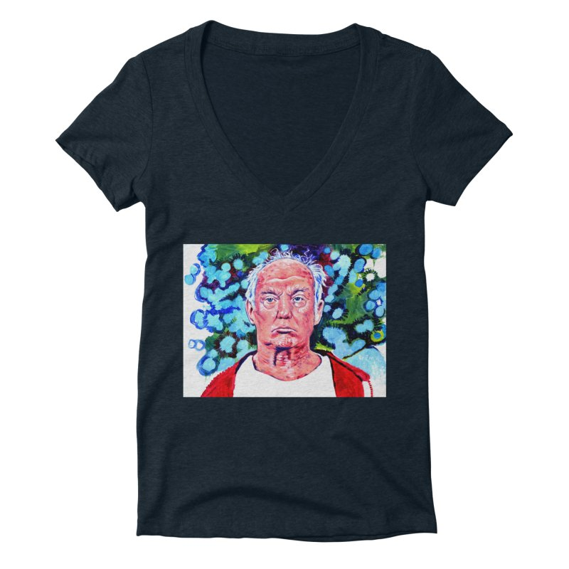 old man trump Women's Deep V-Neck V-Neck by paintings by Seamus Wray