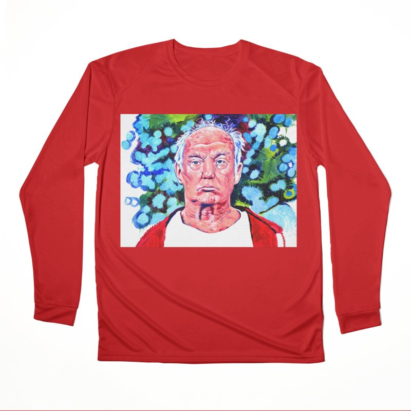 old man trump Men's Performance Longsleeve T-Shirt by paintings by Seamus Wray