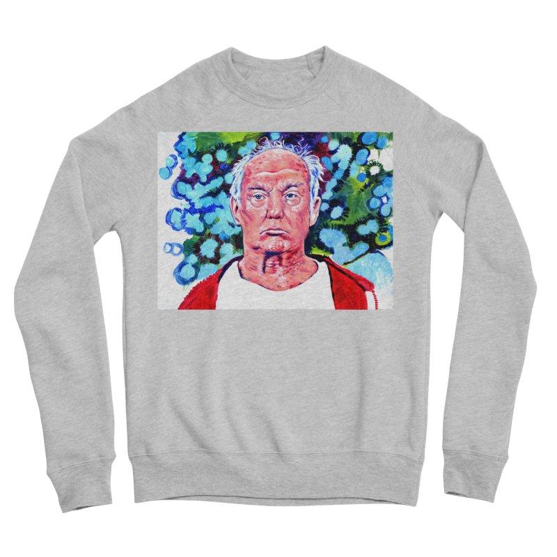 old man trump Women's Sponge Fleece Sweatshirt by paintings by Seamus Wray