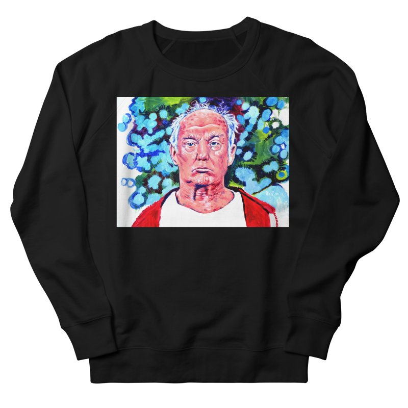 old man trump Women's French Terry Sweatshirt by paintings by Seamus Wray