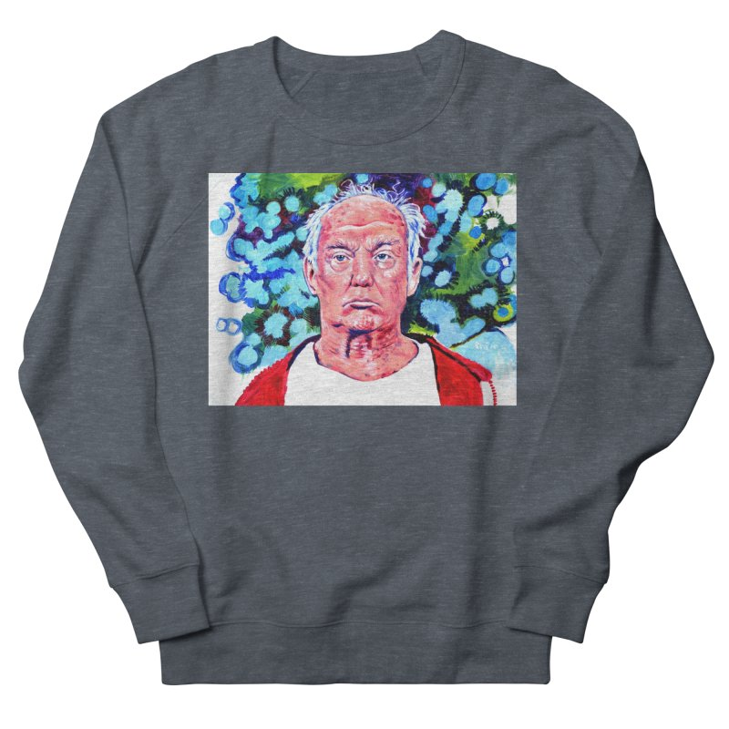 old man trump Men's French Terry Sweatshirt by paintings by Seamus Wray