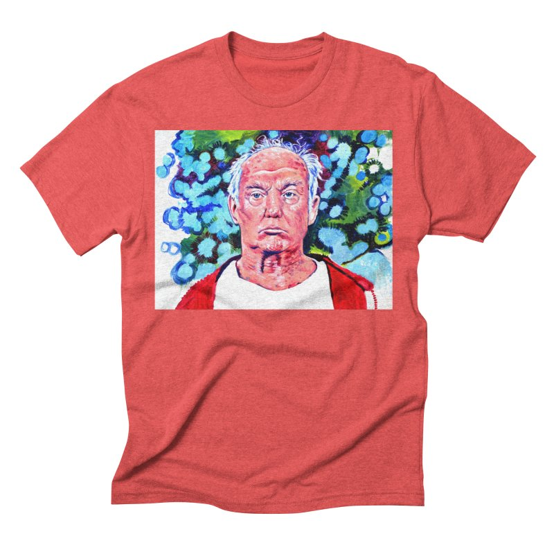 old man trump Men's Triblend T-Shirt by paintings by Seamus Wray