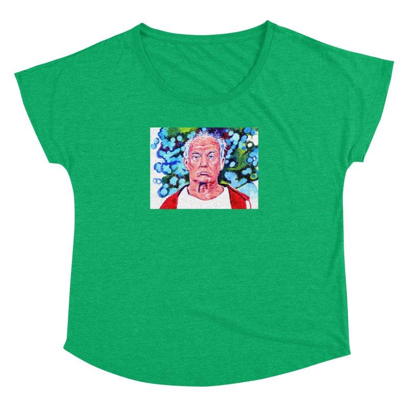 old man trump Women's Dolman Scoop Neck by paintings by Seamus Wray