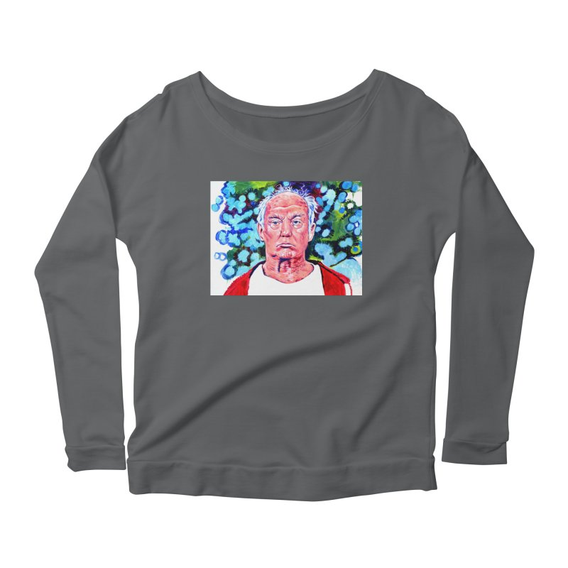 old man trump Women's Scoop Neck Longsleeve T-Shirt by paintings by Seamus Wray