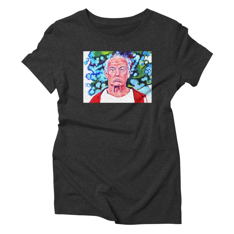 old man trump Women's Triblend T-Shirt by paintings by Seamus Wray