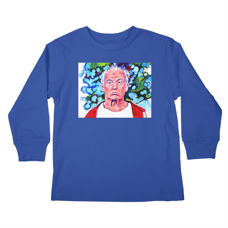 old man trump Kids Longsleeve T-Shirt by paintings by Seamus Wray