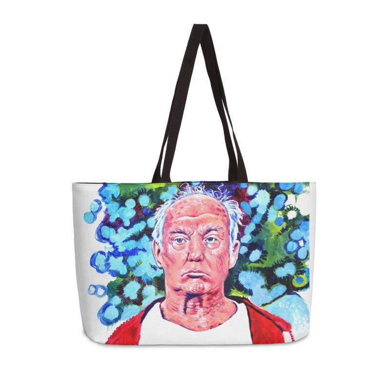 old man trump Accessories Weekender Bag Bag by paintings by Seamus Wray