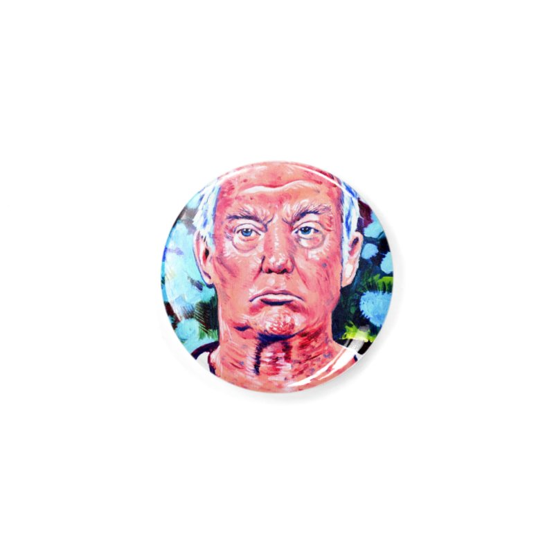 old man trump Accessories Button by paintings by Seamus Wray