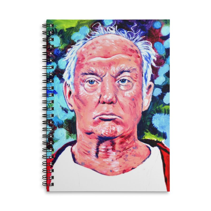 old man trump Accessories Lined Spiral Notebook by paintings by Seamus Wray