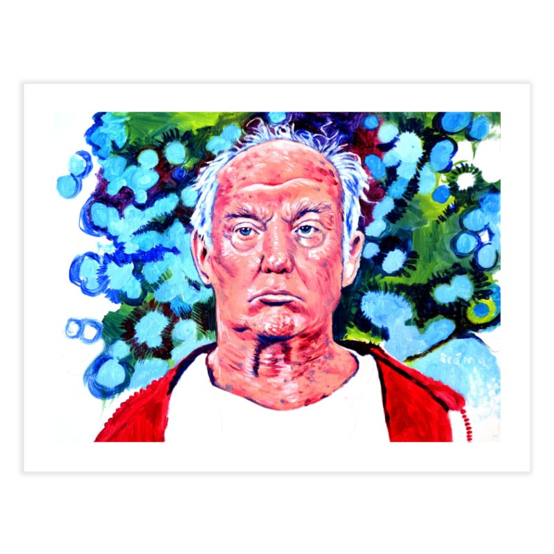 old man trump Home Fine Art Print by paintings by Seamus Wray