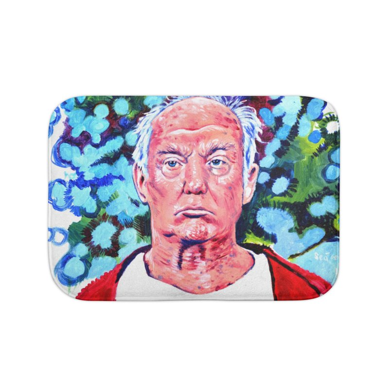 old man trump Home Bath Mat by paintings by Seamus Wray