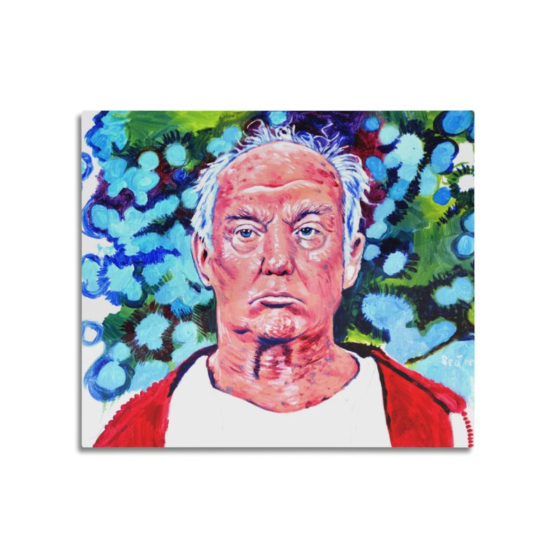 old man trump Home Mounted Aluminum Print by paintings by Seamus Wray
