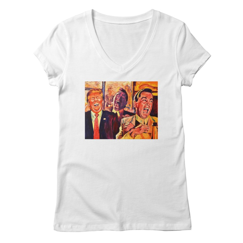 goodfellas Women's Regular V-Neck by paintings by Seamus Wray