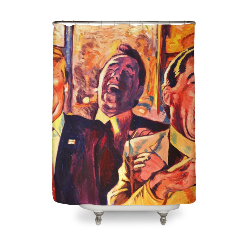 goodfellas Home Shower Curtain by paintings by Seamus Wray