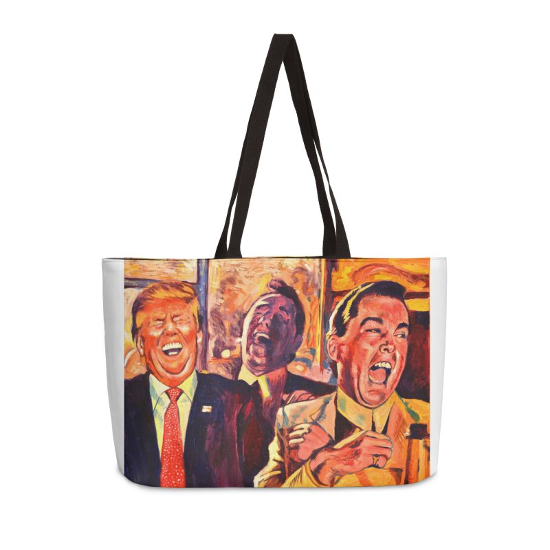 goodfellas Accessories Weekender Bag Bag by paintings by Seamus Wray