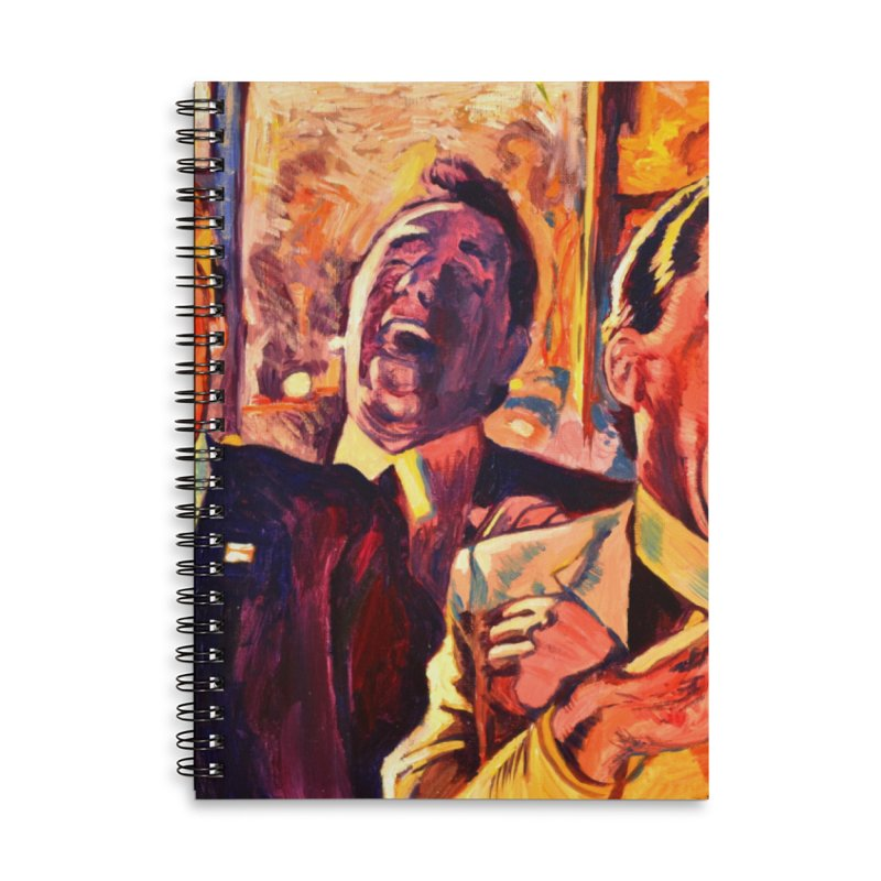 goodfellas Accessories Lined Spiral Notebook by paintings by Seamus Wray