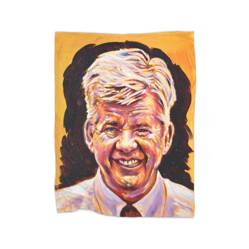 wally Home Fleece Blanket Blanket by paintings by Seamus Wray
