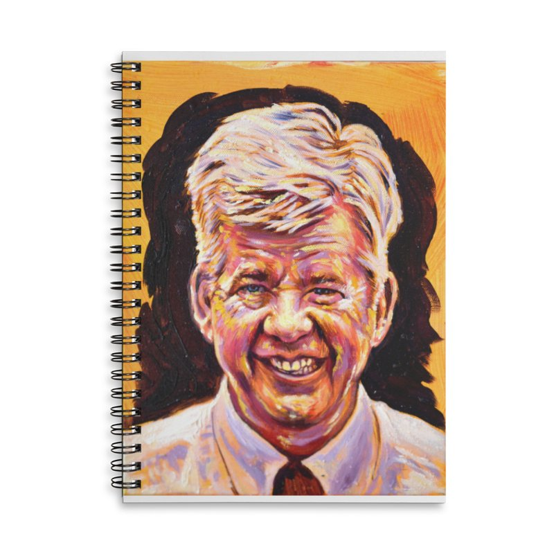 wally Accessories Lined Spiral Notebook by paintings by Seamus Wray