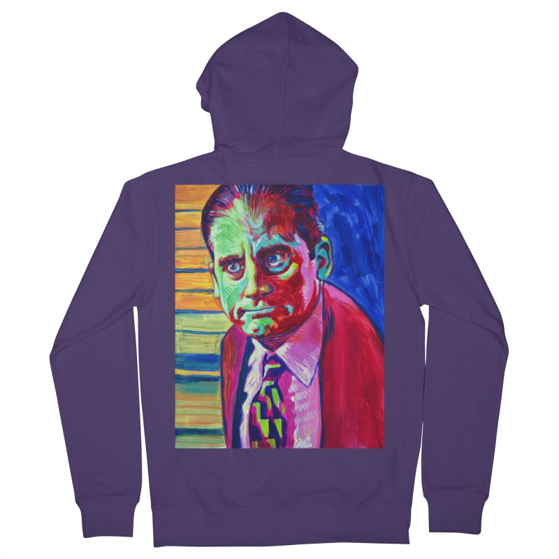 m. scott Women's French Terry Zip-Up Hoody by paintings by Seamus Wray