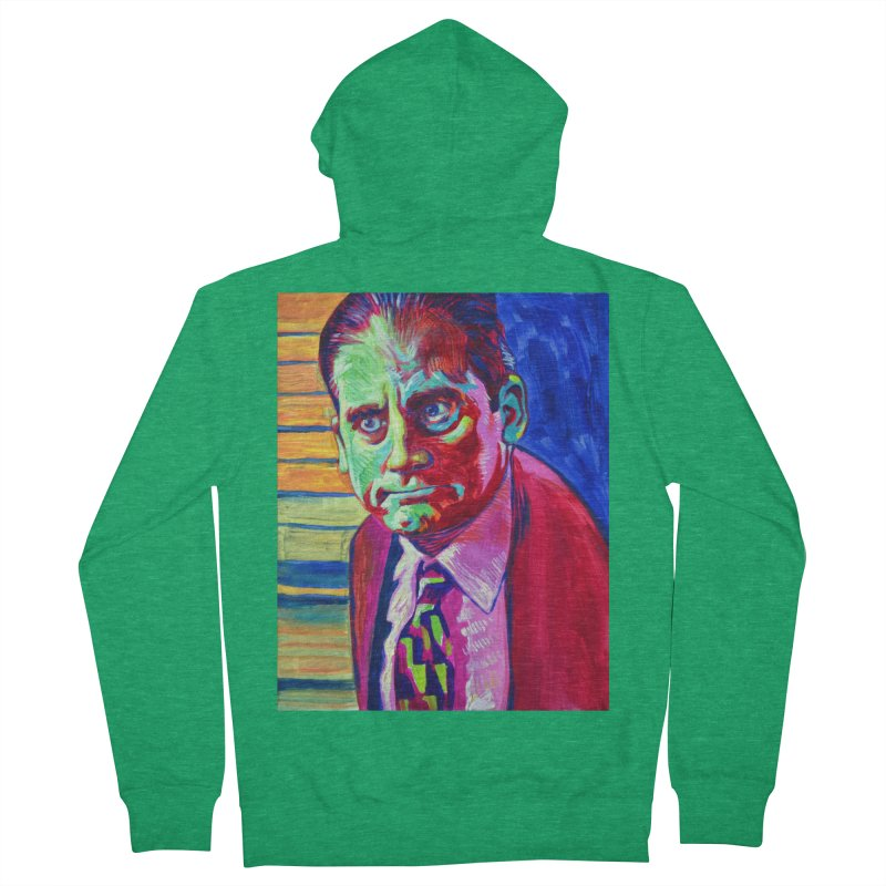 m. scott Men's French Terry Zip-Up Hoody by paintings by Seamus Wray