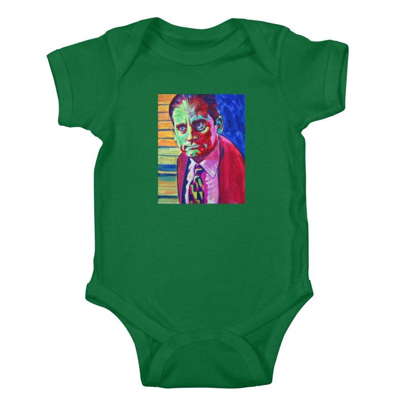 m. scott Kids Baby Bodysuit by paintings by Seamus Wray