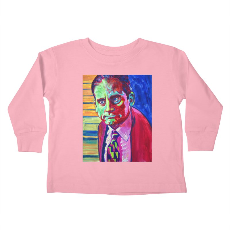 m. scott Kids Toddler Longsleeve T-Shirt by paintings by Seamus Wray